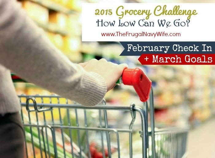 2015 February Grocery Challenge Check in and March Goals