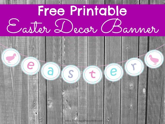 Free Printable Easter Decor Banner