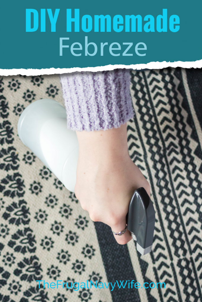 Love Febreze but not the cost? Make it at home with the Easiest Homemade Febreze recipe. 3 Simple steps to great smelling furniture. #frugalnavywife #homemadefebreze #dirfebreze #fabricfreshener #frugallivingtip #frugaldiy | Homemade Febreze | DIY Room Freshener | DIY Febreze | DIY Fabric Freshener | Frugal Living Tips | Home Cleaning Supplies | Frugal DIY | Spring Cleaning Tips