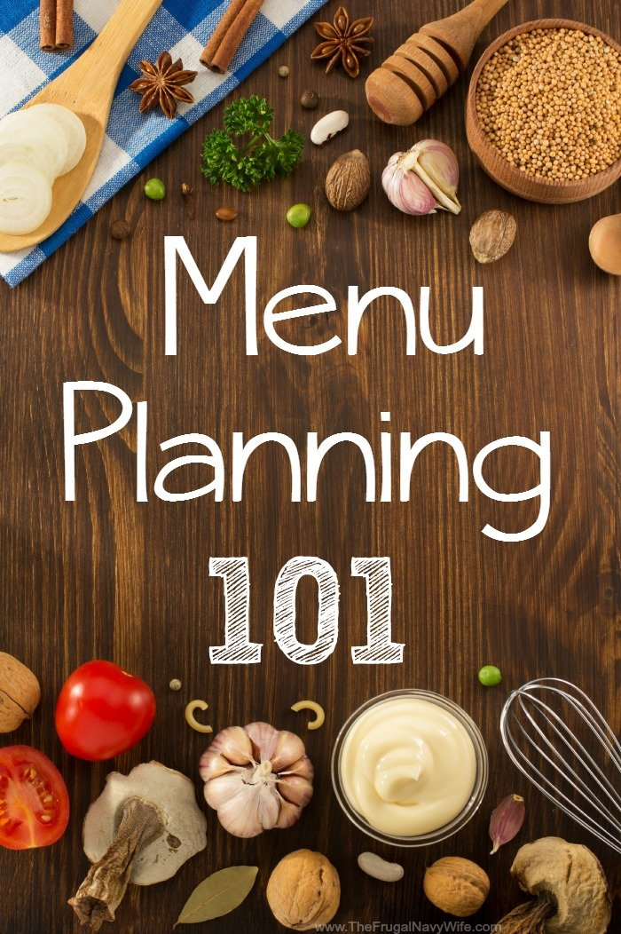 menu planning 101 free meal planner printable