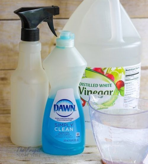 DIY Glass Cleaner Recipe Items needed