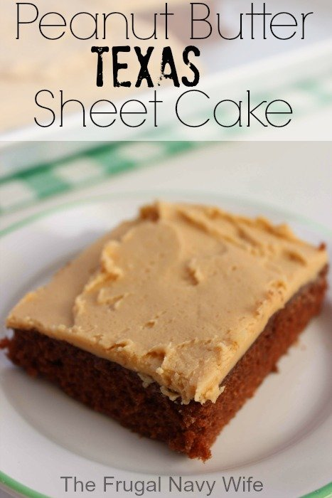 Peanut Butter Sheet Cake With Chocolate Frosting