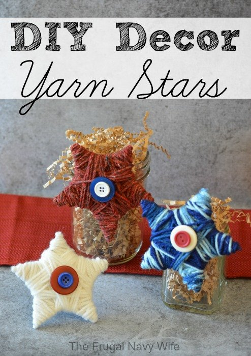 DIY Decor Yarn Stars