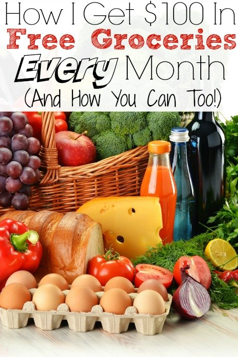 How I Get $100 In Free Groceries Every Month (And How You Can Too!) – No Coupons Required!