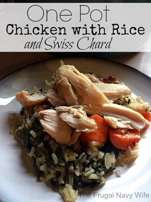 One-Pot Chicken with Rice and Swiss Chard