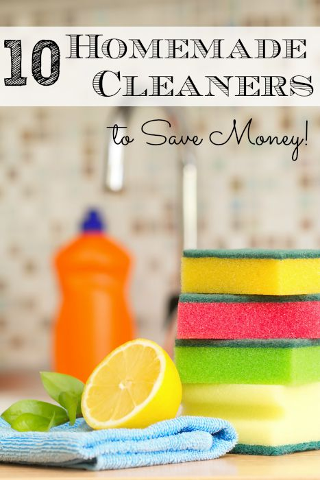 10 Homemade Cleaners to Save Money!