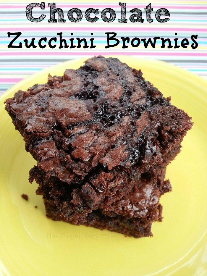 Chocolate Zucchini Brownies
