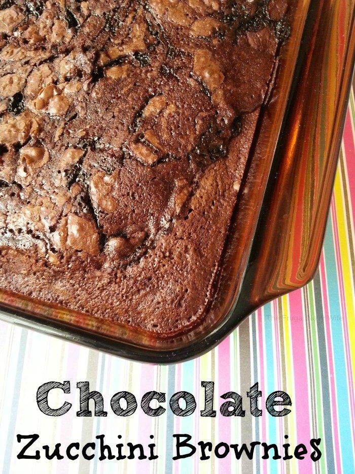Chocolate Zucchini Brownies Whole