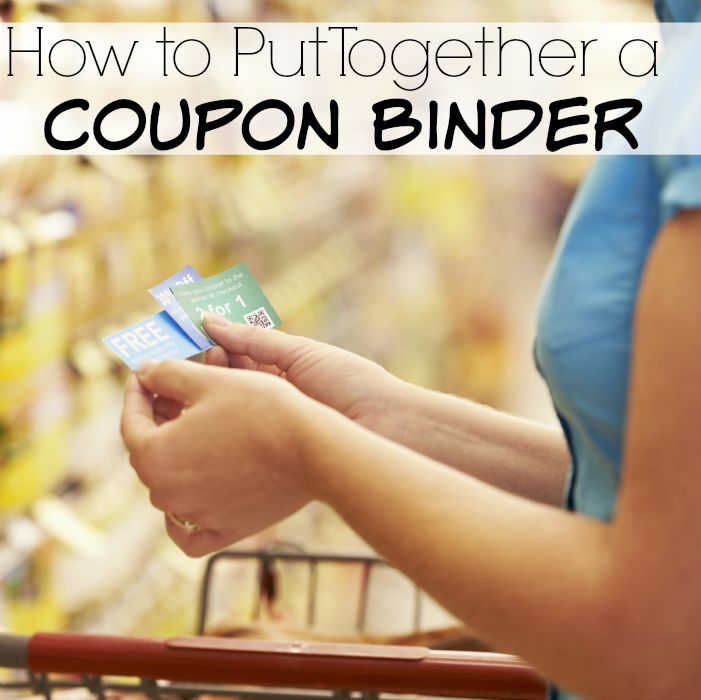 How to Put Together a Coupon Binder