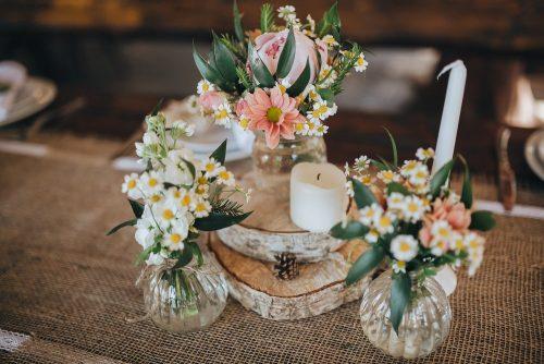 Burlap fall wedding