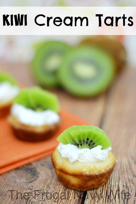 Kiwi Cream Tarts