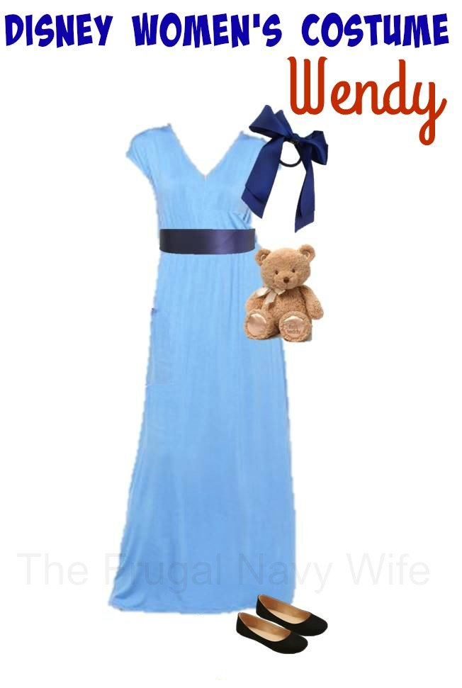 DIY Women's Wendy Costume by The Frugal Navy Wife