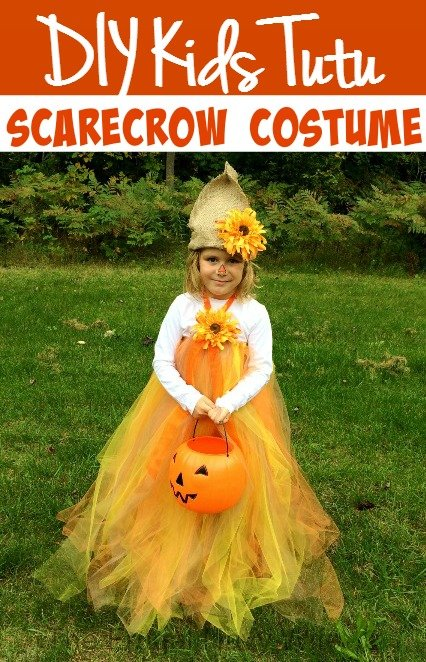 DIY Kids Tutu Scarecrow Costume