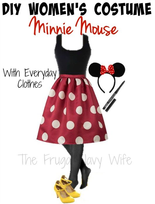 DIY Womanu0027s Minnie Mouse Halloween Costume - With Everyday Clothes  sc 1 st  The Frugal Navy Wife & DIY Womenu0027s Minnie Mouse Halloween Costume - With Everyday Clothes