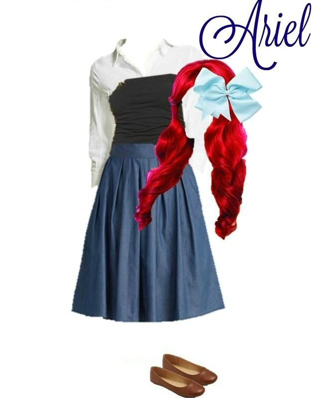Disney Women's Costume, Ariel – Made From Everyday Clothes
