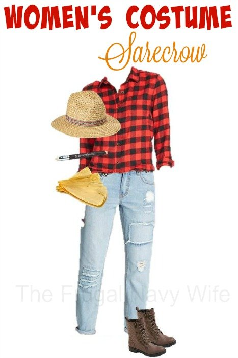 Women's Scarecrow Costume – Made From Everyday Clothes