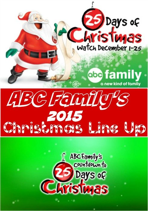 abc familys 2015 25 days of christmas tv schedule - 25 Days Of Christmas Abc Family