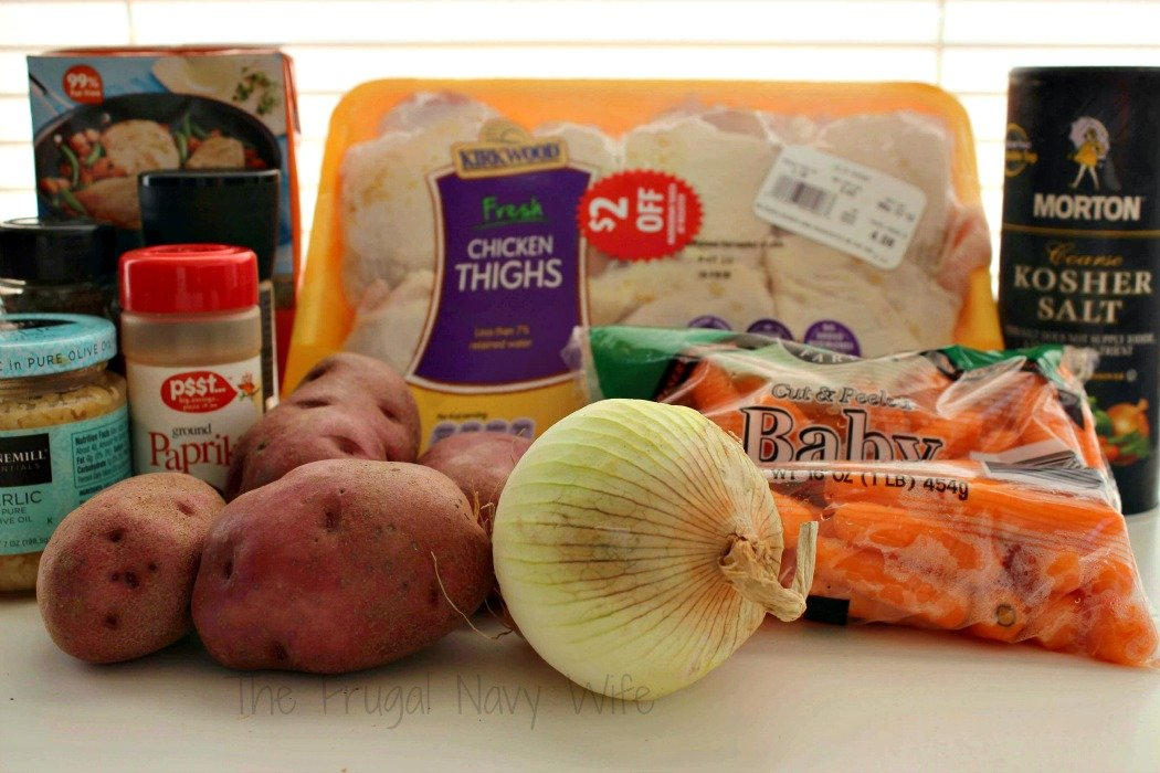 Crock Pot Chicken Thighs with Potatoes & Carrots Ingredients