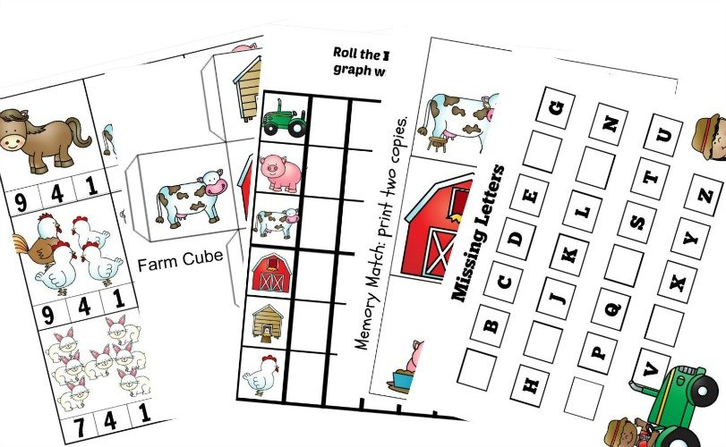 photograph about Printable Puzzles for Preschoolers called Farm Animal Puzzles Totally free Preschool Worksheets Printable