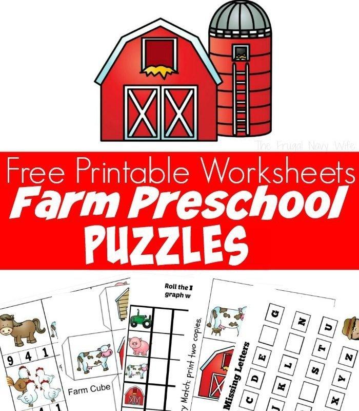 Farm Animal Puzzles Free Preschool Worksheets Printable