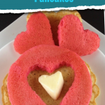 Make these red pancake hearts for Valentine's Day! They even have a special ingredient to put it over the top, come find out what it is! #frugalnavywife #pancakes #breakfast #easyrecipe #heartpancakes #yummy   Easy Breakfast Recipe   Heart Pancake Recipes   Pancake Recipes   Heart Shaped Food   Red Foods   Valentine's Day Breakfast Ideas
