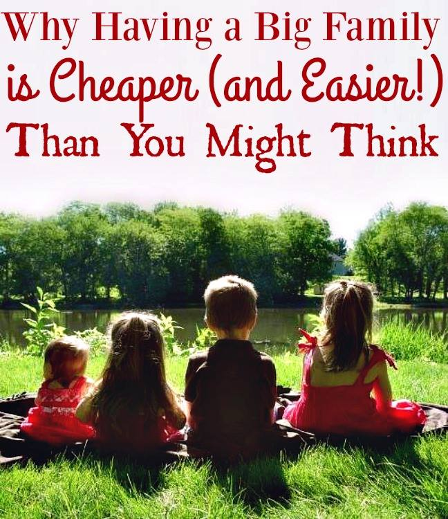 Why a Big Family is Cheaper (and Easier) Than You Might Think