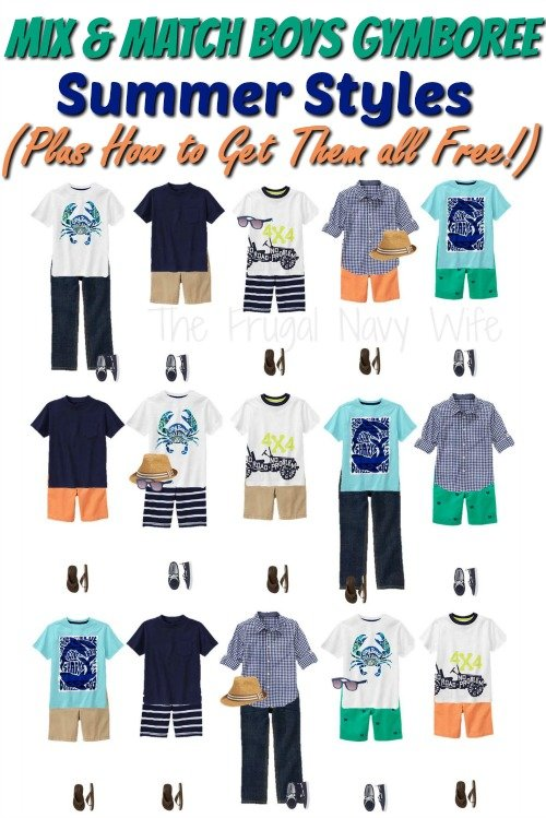 Mix & Match Boys' Gymboree Clothes in Summer Styles (Plus How to Get Them all Free!)