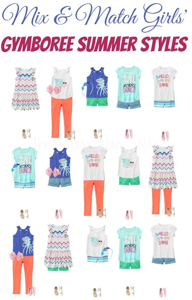 Mix & Match Girls' Gymboree Clothes in Summer Styles