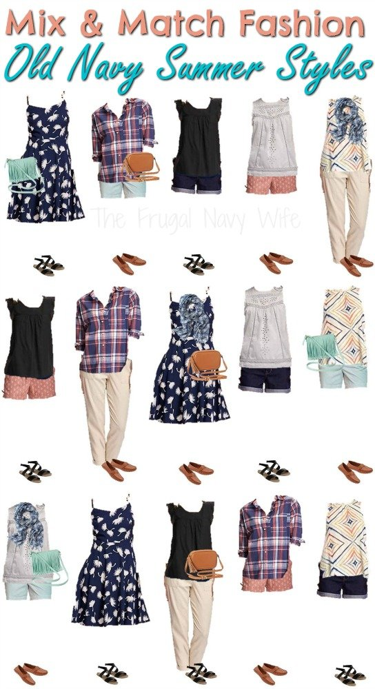 mix match navy clothes for summer
