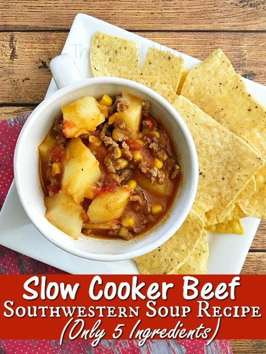 Slow Cooker Beef Southwestern Soup Recipe (Only 5 Ingredients)