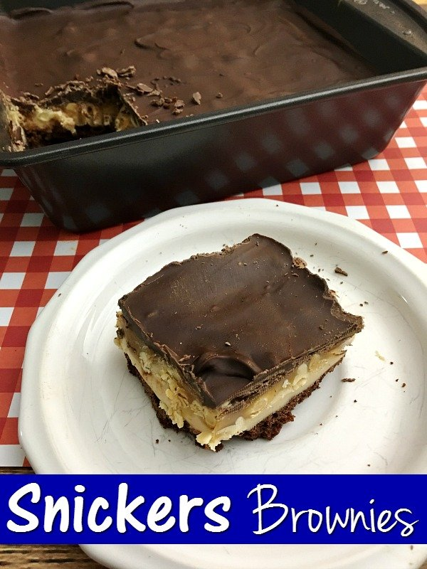 Snickers Peanut Butter Brownies
