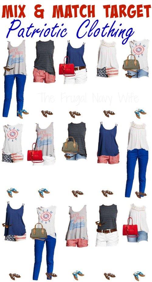 Mix & Match Target Patriotic Clothing