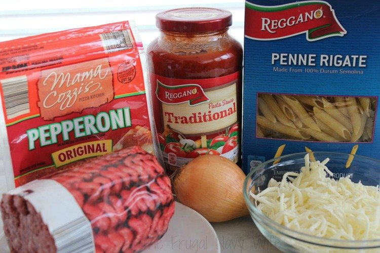 Easy One Pot Pepperoni Pizza Pasta Ing