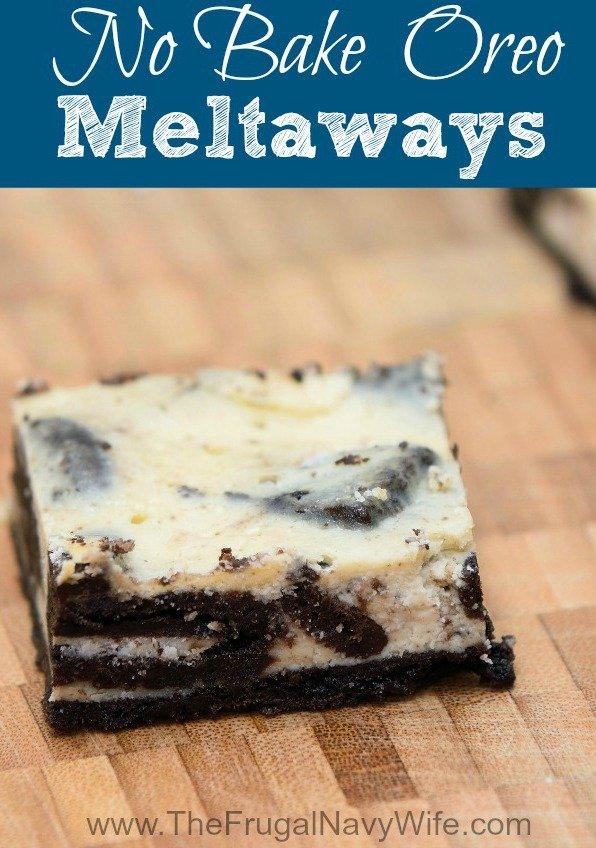 Oreo Dessert - No Bake Oreo Meltaways Recipe
