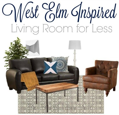 West elm modern living room for less for Living rooms for less