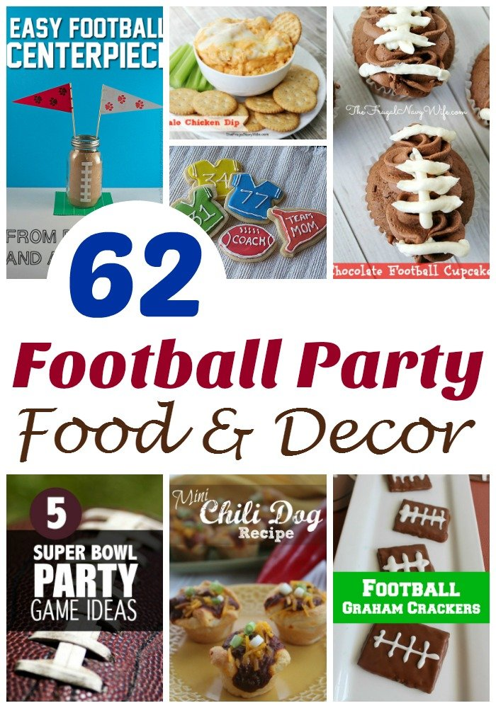 Football Party Ideas - 62 of the Best Football Food & Decor