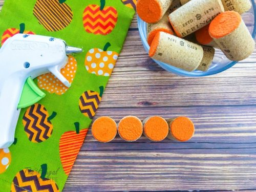 DIY Wine Cork Pumpkins Craft