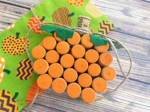Wine Cork Craft | Wine Cork Pumpkins Craft