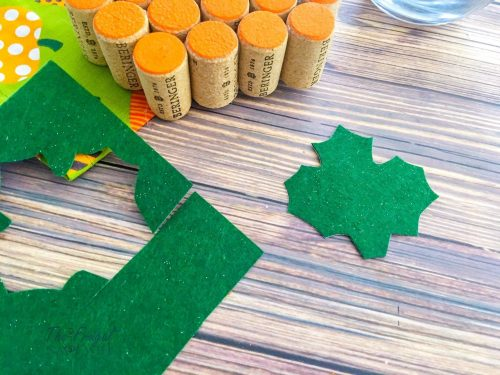 Wine Cork Crafts Pumpkin