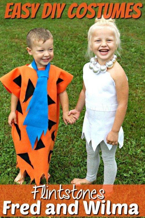 Easy Diy Flintstone Costumes Fred And Wilma Costume Sc 1 St The Frugal Navy  Wife