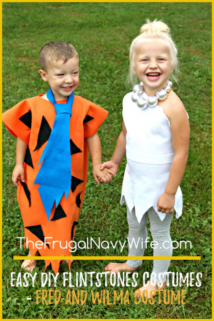 Looking for easy DIY Flintstones Costumes? I have the cutest kids Fred and Wilma costume!! It's so easy to make and you kids will love it as much as you do! #frugalnavywife #flintstones #fredflintstone #wilmaflinstone #halloween #kidscostumes #diycostumes | Halloween Costume Ideas | DIY Halloween Costumes | Kids Halloween Costumes | Flinstones Costumes | DIY Flintstone Costumes for Kids