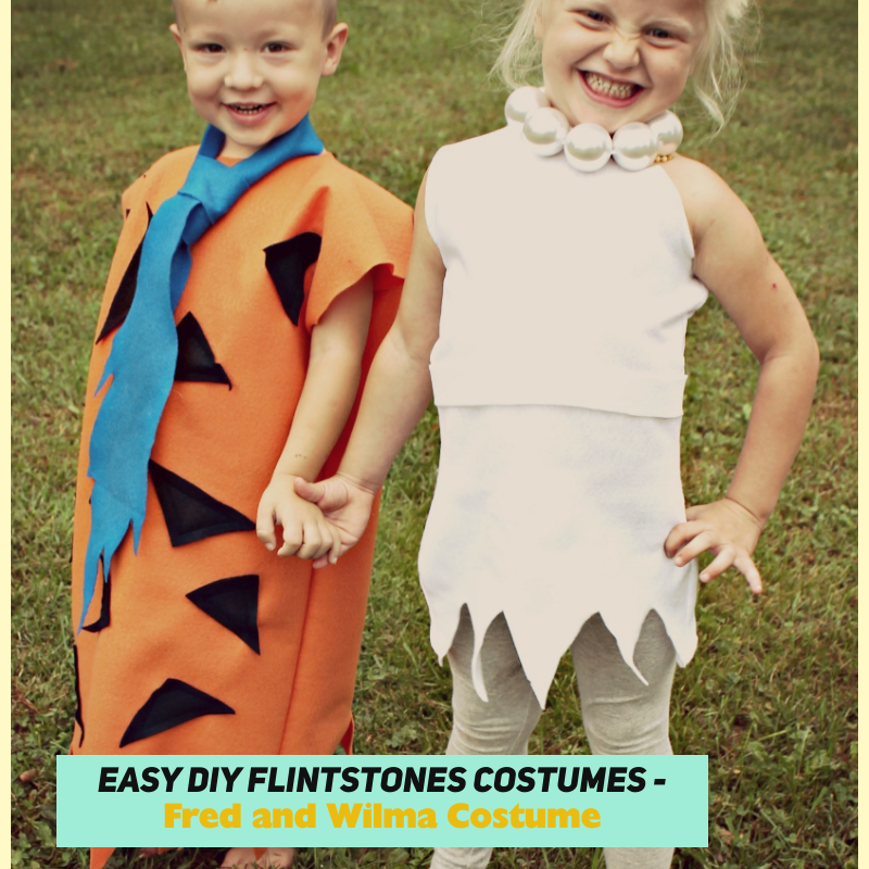 Easy DIY Flintstones Costumes – Fred and Wilma Costume
