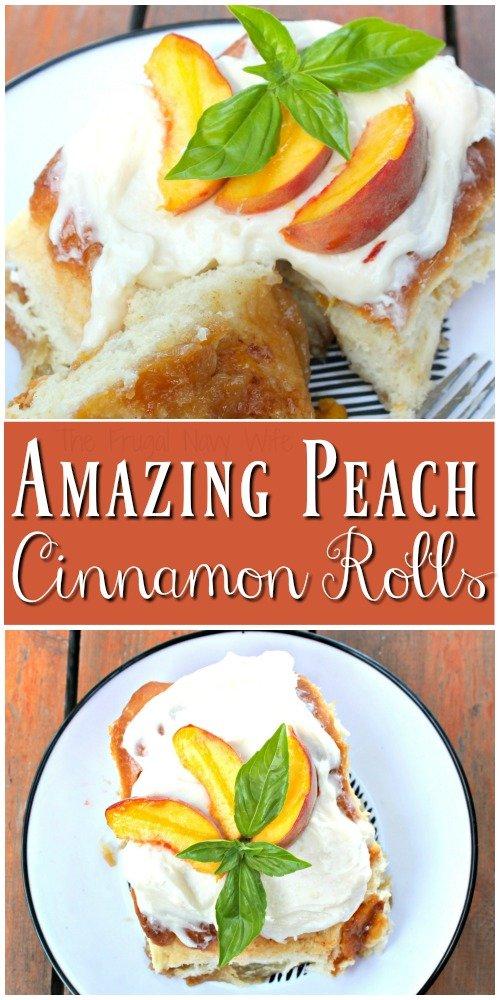 Peach Cinnamon Rolls