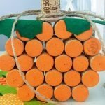 Looking for fun wine cork crafts? This easy wine cork pumpkin craft is one of the perfect wine cork projects for fall, Halloween, and Thanksgiving! #winecorkcrafts #frugalnavywife #pumpkincraft #diy #fall   Wine Cork Crafts   Pumpkin Craft   DIY Project   Fall Home Decor   Halloween Home Decor   Thanksgiving Home Decor  
