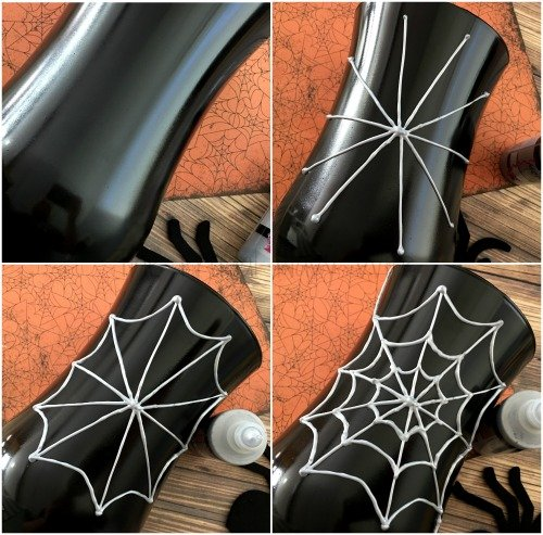 Diy Halloween Decorations Diy Spider Web Vase