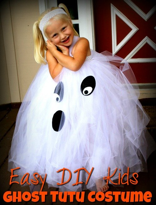 Kids Ghost Costume u2013 Easy DIY Kids Ghost Tutu Costume  sc 1 st  The Frugal Navy Wife & Kids Ghost Costume - Easy DIY Kids Ghost Tutu Costume