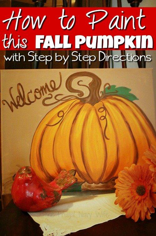 Pumpkin Decorations & Pumpkin Painting – How to Paint a Pumpkin