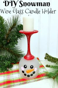 DIY Votive Candle Holders – DIY Snowman Wine Glass Candle Holder
