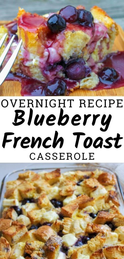 Looking for a tasty and easy recipe? Try this blueberry overnight french toast casserole. Make it ahead of time let it sit in the fridge then bake and done! #overnightrecipe #casserole #frenchtoast #breakfastrecipe #easyrecipe #frugalnavywife | Overnight Recipe | Casseroles | Breakfast Recipe | Easy Breakfast Ideas | Overnight Breakfast Recipe | Blueberry Recipe