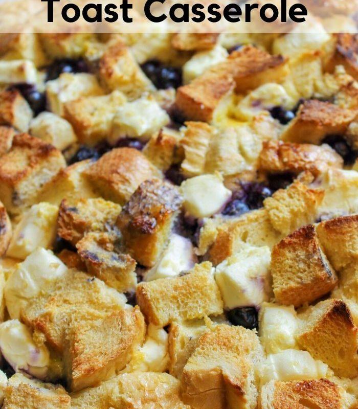 Easy Overnight Blueberry French Toast Casserole Recipe